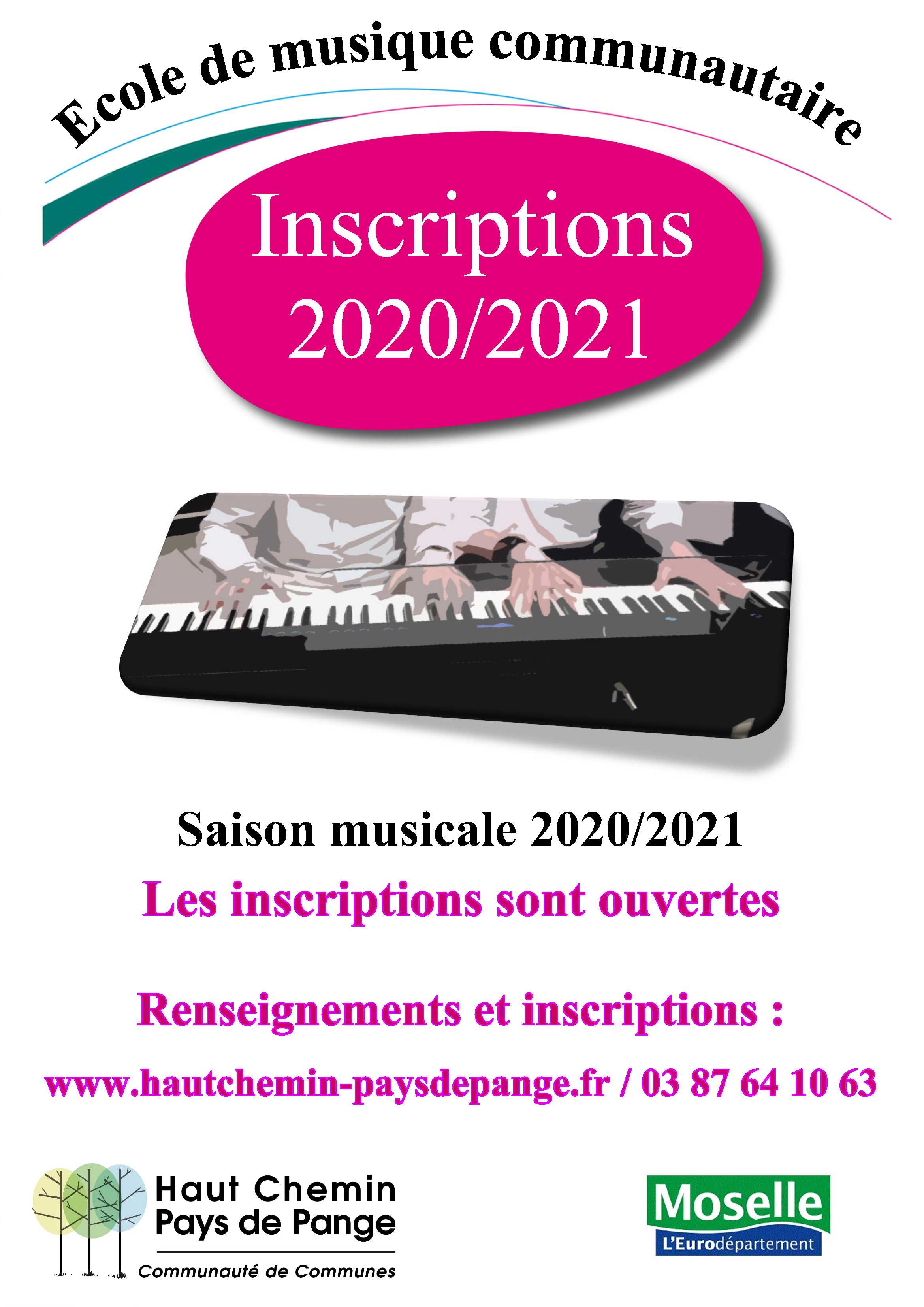Affiche inscriptions 2020 2021